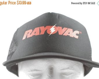 True Vintage Electrician Hat RAYOVAC Batteries Foam Trucker Hat Retro Black  Snapback Cap Unworn 585a667dfdf0