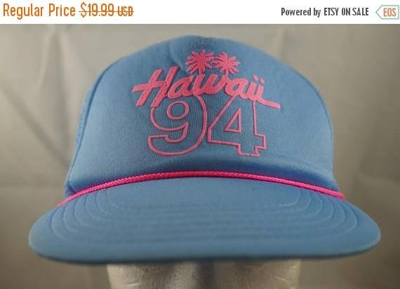 15795b9d0fa Vintage 90s Hawaii 94 Snapback Blue Hawaii Cap