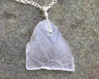 "rare, unique, one of a kind sunshine beach ""sea"" glass pendant necklace"