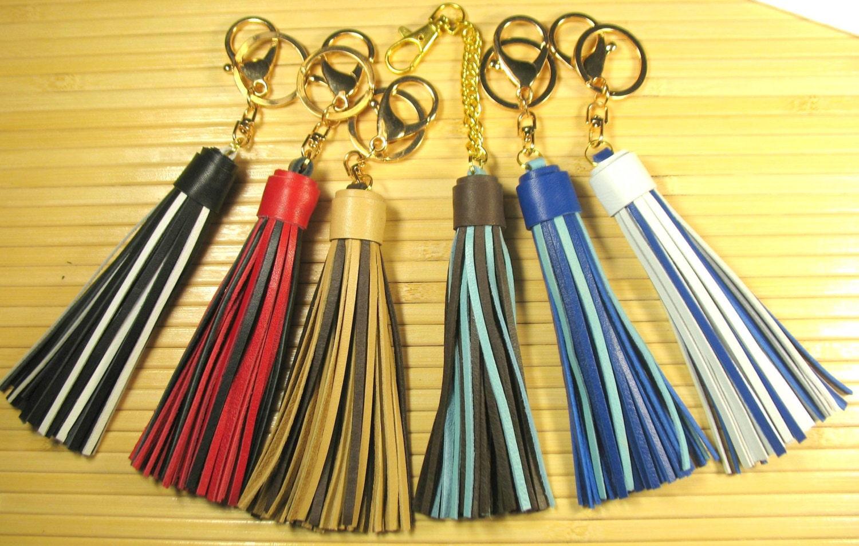 02618c5fd2 Two-tone leather tassels for handbags Purse tassel Handbag