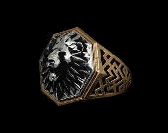 Signet Ring, Personalized Ring, Family Crest, Coat of Arms Ring, Heraldic Ring, Custom Mens and Womens Signet Ring