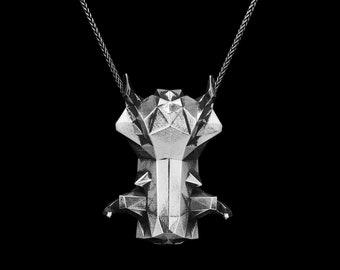 WARTHOG PENDANT- Sterling Silver- VvILK