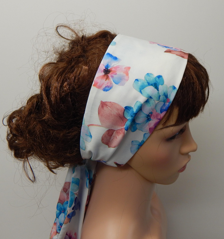 f9c0a24d64fa Women s head scarf Boho floral head wrap tie back