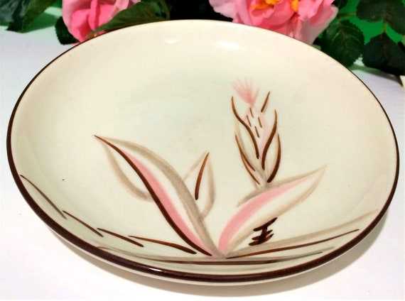 Set Of 4 Vintage Winfield Ware Pink Dragon Flower Bread And Etsy