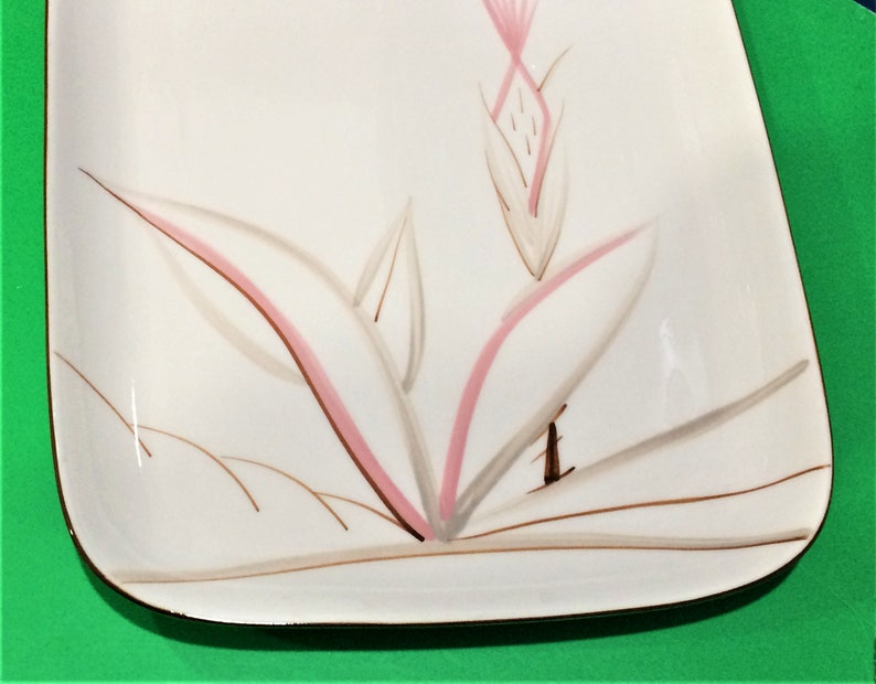 Vintage Winfield Ware DRAGON FLOWER Rectangle Serving Platters  Santa Monica CA  11 or 14 Available Sold Seperately
