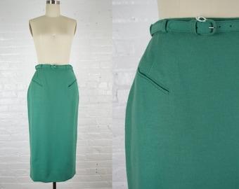 Vintage sequins Pencil Skirt mermaid effect shimmery skirt green blue effects skirt knee length size 25-26 women\u2019s size