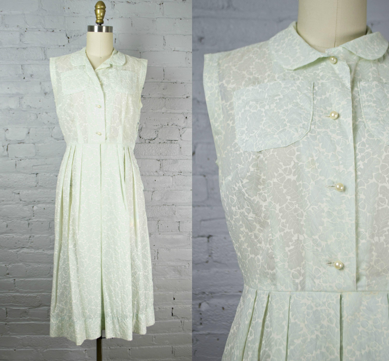 Vintage 50s Style Dress Sheer 1950s Pastel Blue Dress Etsy