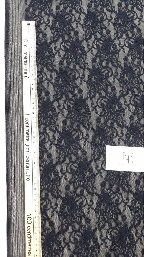 VENTE noir dentelle élastique en en en tissu, dentelle Français, Chantilly lace, dentelle extensible, de dentelle de mariée, robe de soirée dentelle, dentelle de Lingerie, JE69001 30e240