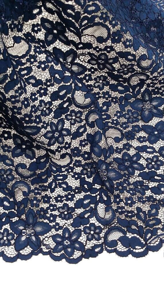 VENTE bleu dentelle, dentelle bleu marine, mariée dentelle Chantilly Chantilly Chantilly dentelle mariage dentelle soirée robe dentelle festonnée Floral dentelle Lingerie dentelle L71995 7faa64