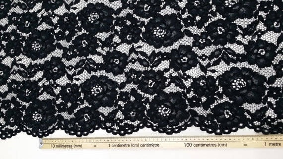 Tissu dentelle noir vente vente noir par yard, Français dentelle, dentelle brodée de mariée mariage dentelle robe de soirée dentelle Lingerie dentelle Alencon dentelle J131301 021dbe