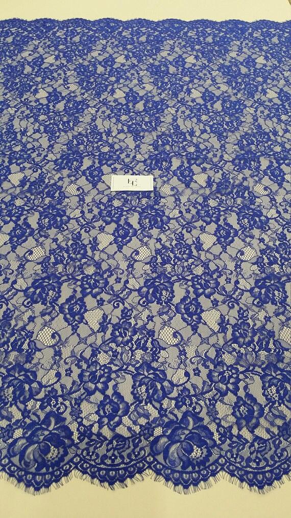 VENTE Royal dentelle bleu, Français dentelle, dentelle de en Chantilly, dentelle de mariée mariage, robe de soirée en de dentelle, tissu dentelle Lingerie par yard EVS111V 496d55