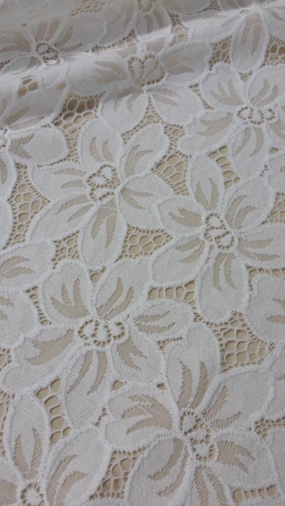 Tissu dentelle blanc Français cassé vente par yard, Français blanc dentelle, dentelle de mariée mariage dentelle broderie dentelle voile de dentelle blanche Lingerie dentelle Chantilly J88811 4952a8
