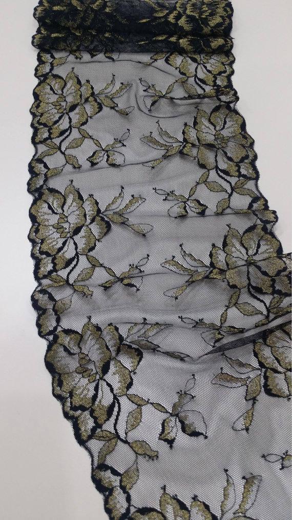 VENTE noir dentelle d'or, Français dentelle, dentelle de gratin Chantilly, dentelle de mariée, gratin de de dentelle cils Floral dentelle Lingerie dentelle J46641 6018e8