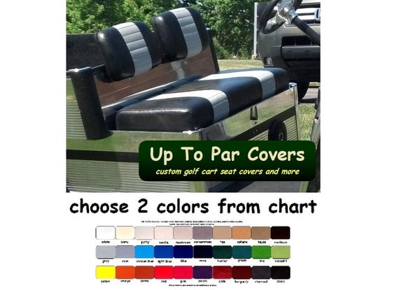 Club Car Carryall Golf Cart Custom Seat Cover Set Staple On