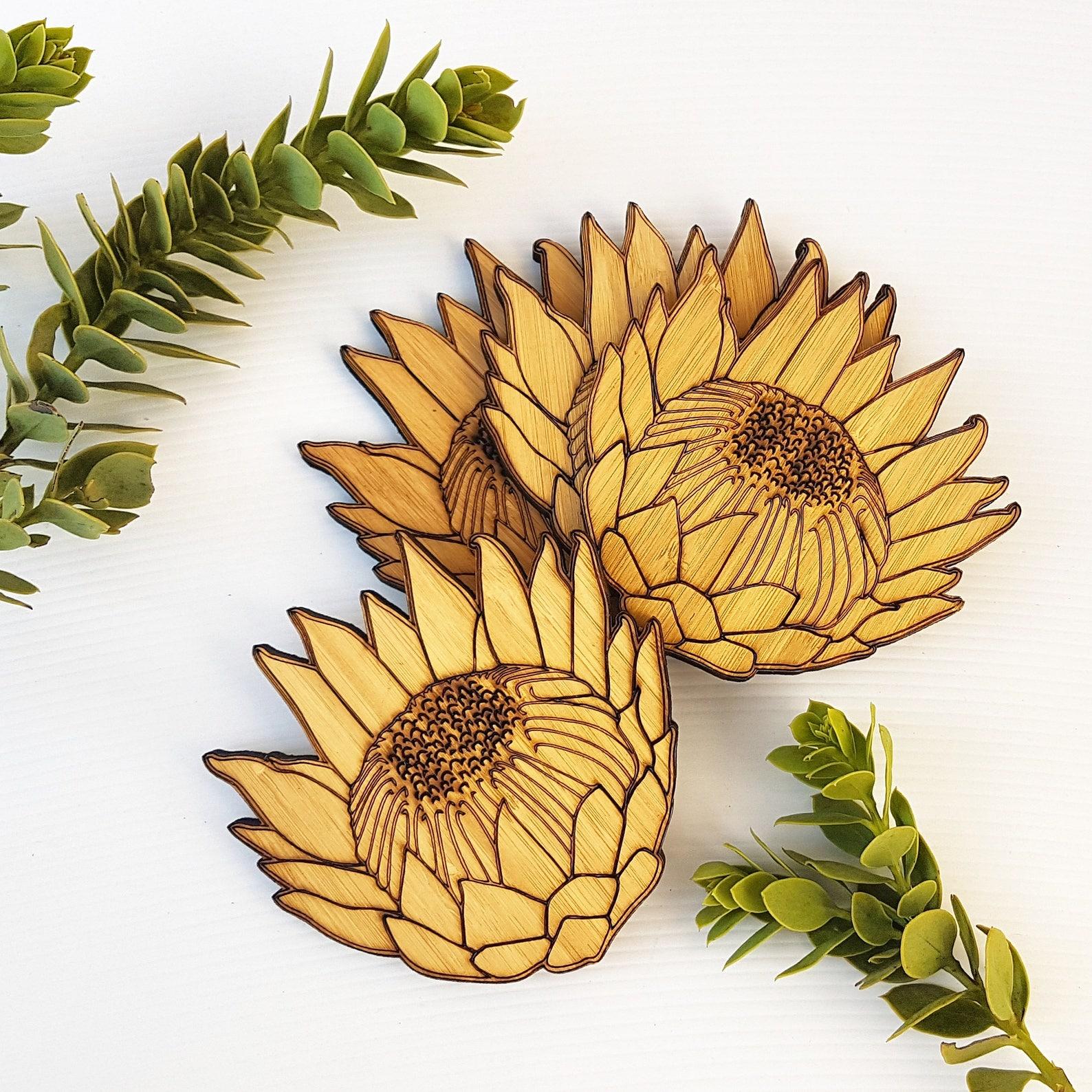 King protea coasters