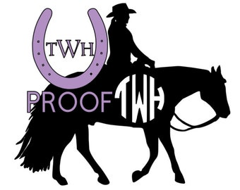 Western Pleasure Monogram Decal