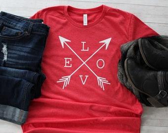 f1b00f07f Valentine Shirt // LOVE Arrows Valentine's Day Shirt // Women's T-Shirt //  Love Shirt