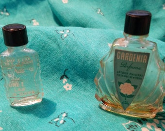 Two antique perfume bottles, Gardenia