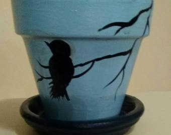Bird on a Branch Pot