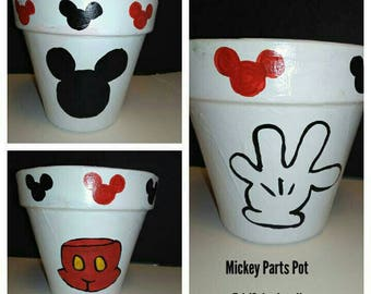 Mickey Mouse Parts inspired Pot