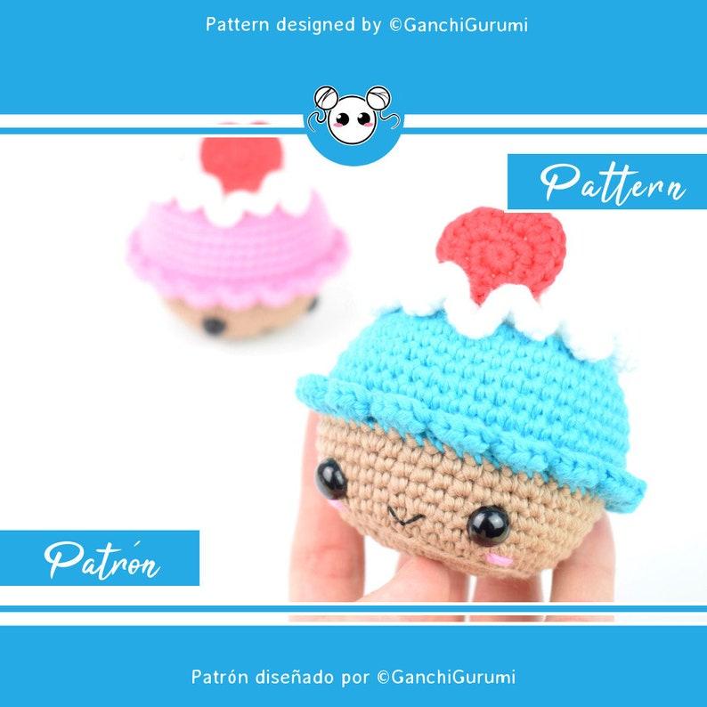 17a9176bb Cupcake, patrón cupcake, patrón amigurumi, patrón crochet, cupcake de  ganchillo, amigurumi pdf, patrón ganchillo, cupcake adorable