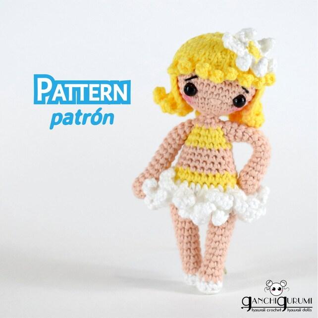 Patrón amigurumi de una linda muñeca de ganchillo o crochet | Etsy