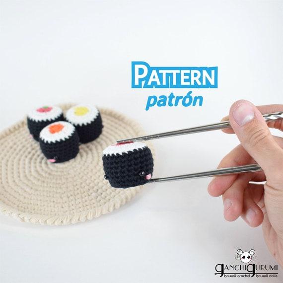 Maki roll maki crochet maki pattern amigurumi crochet   Etsy