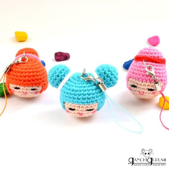 Kokeshi llavero amigurumi llavero kawaii muñeca kokeshi | Etsy
