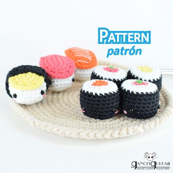 Sushi pack sushi set sushi pattern amigurumi crochet | Etsy