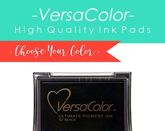 Ink Stamp Pad - Versacolor Ink Pad for Wood Stamps, Pigment Ink Pad, Rubber Stamp Pad, White Ink Stamp Pad