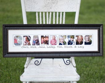 gift from grandkids grandparents day gift new grandparent gift grandkids names christmas gift for grandma nana grandmother grandpa