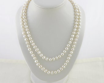 e65279ba3 Two Strand Pearl Necklace, Multistrand Pearl Necklace, Wedding Necklace,  Vintage 2 Strand Pearl Necklace, Double Strand Pearl Necklace