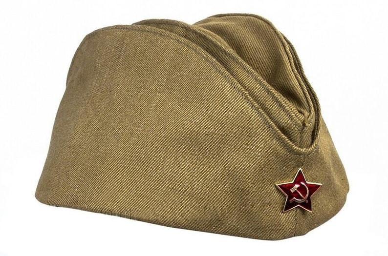 New Unissued Red Army Soviet forage garrison cap pilotka hat  aec7b544b32