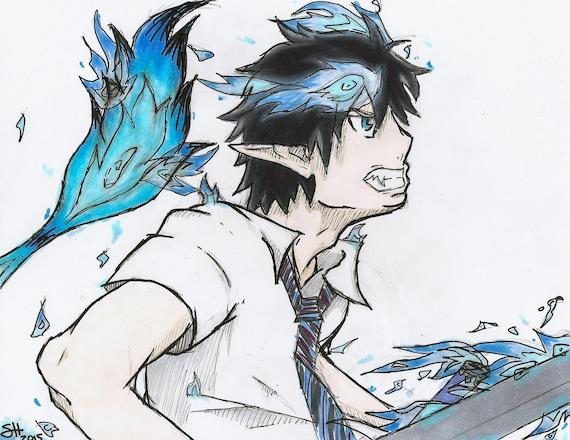 "Blue Exorcist Sword Kurikara Katana Rin Okumura Devil Steel Anime Replica 42/"""