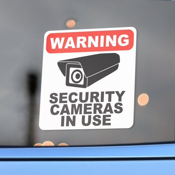 Mini 1 Warning Security Camera In Use Sticker Decals for Lyft Uber and Dashcams