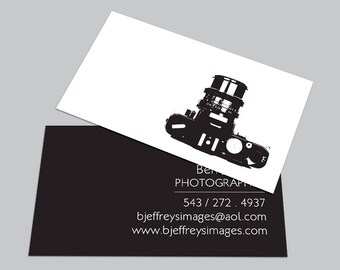 Camera business card etsy custom digital cards modern camera business card calling contact photographer photography black and white printable download diy colourmoves