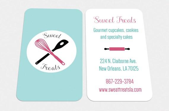 Custom Digital Cards Modern Baker Baking Business Card Etsy