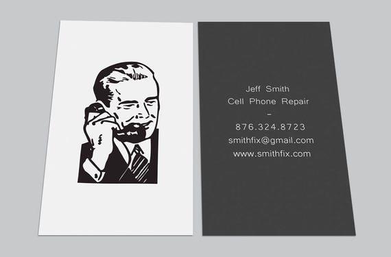 Custom Printed Cards 100 Vintage Retro Cell Phone Repair Etsy
