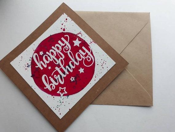 Unique Happy Birthday Card Watercolour Birthdays