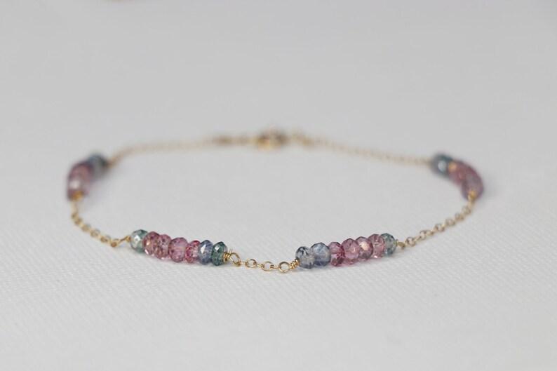 Unique Bracelet Sparkly Gemstone Bracelet Delicate Bracelet 14k Gold Filled Quartz Bracelet Gold Filled Beaded Bracelet Beaded