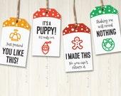 Christmas Gift Tags Printable Cheeky Holiday Gift Tags Funny Labels Hang Tags Secret Santa Gift Tags Xmas Gift Tags Pdf Digital