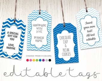 Chalkboard Editable Gift Tags Blackboard Text Editable Etsy