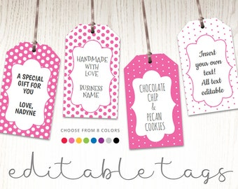 editable gift tags gift tag template favor tags pool party etsy