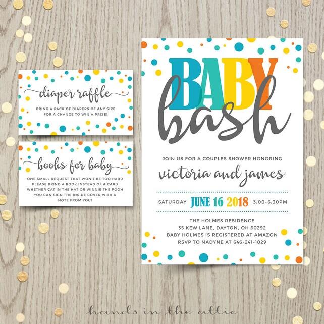 Baby Bash Paare Co-Ed-Baby-Dusche Einladungskarte junge   Etsy