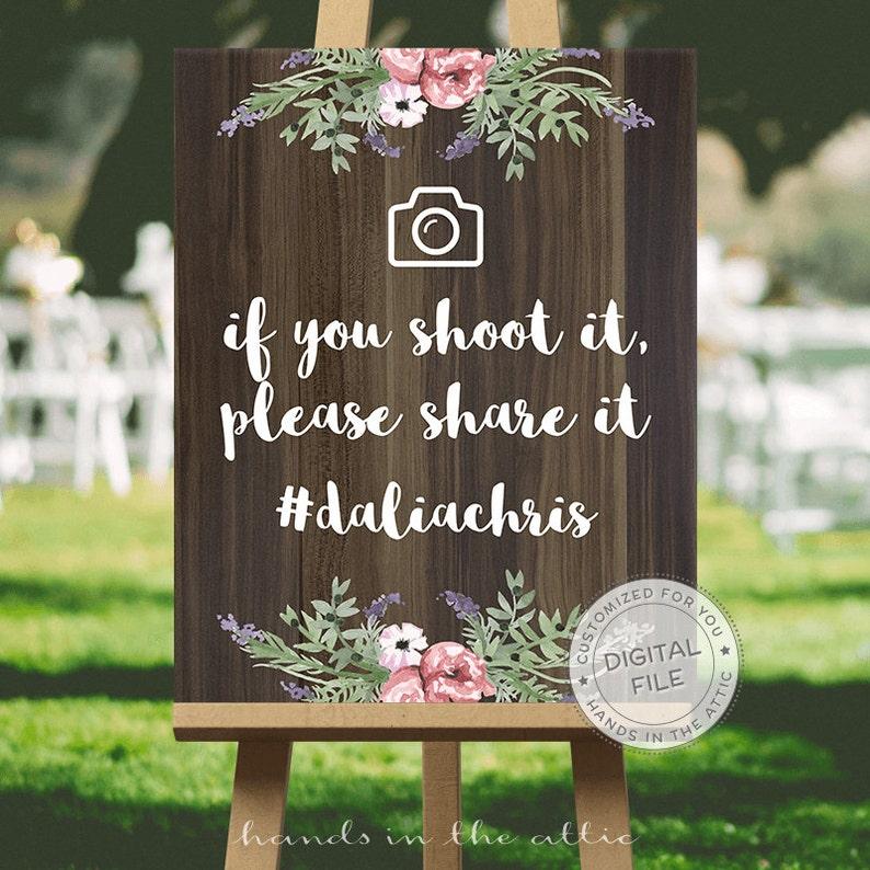 Wedding social media hashtag sign wedding signs ideas  IF image 0