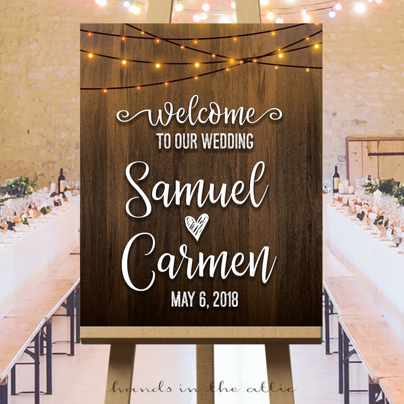 photo relating to Wedding Sign Printable named Welcome in the direction of our marriage indicator PRINTABLE, indoor string lighting, marriage ceremony outside signs and symptoms, barn marriage ceremony decorations, rustic wedding day reception signs and symptoms