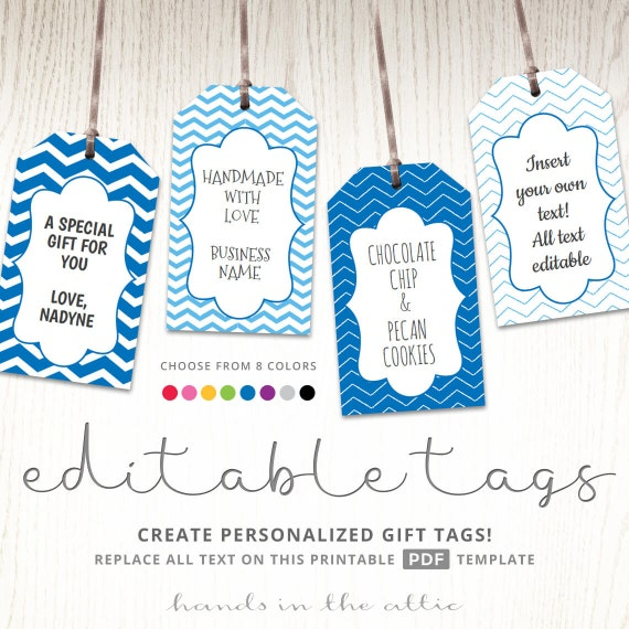 editable gift tags gift tag template text editable chevron etsy