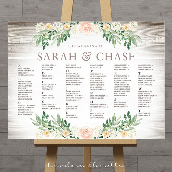 Rustic seating charts for weddings chart ideas poster