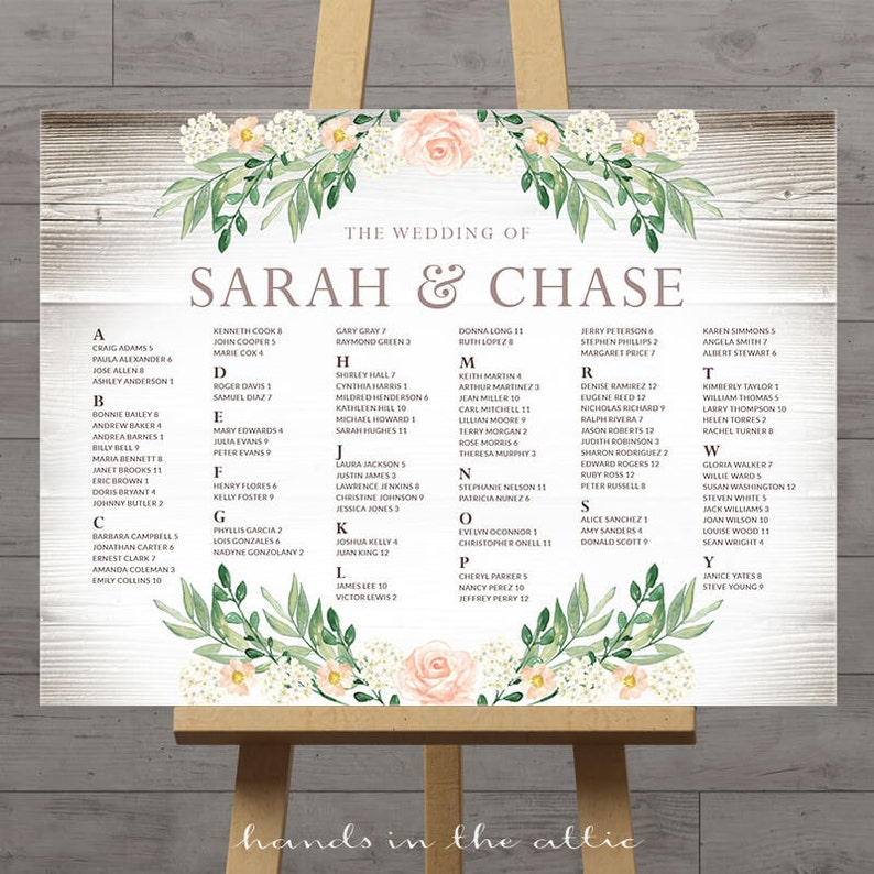 Rustic seating charts for weddings chart ideas poster etsy