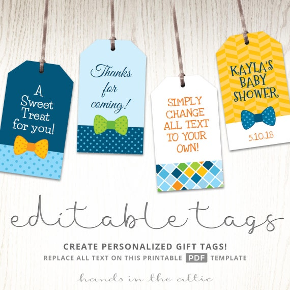 Baby Boy Gift Tags Favor Template Printable Cutouts